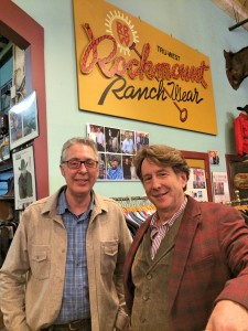 Bert with Steve Weil of Rockmount Ranch Wear