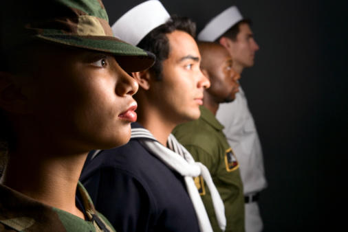 veterans from the marines army air force and navy